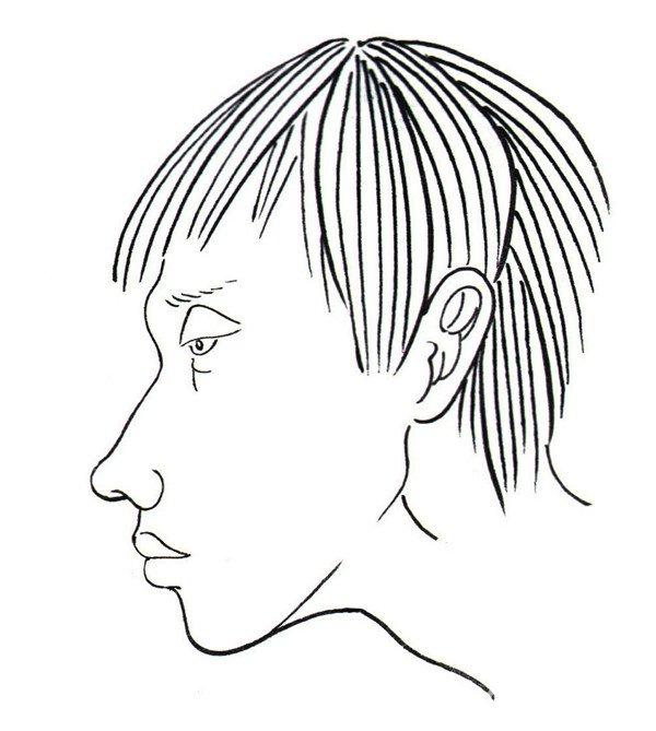 1、画出男孩头部侧面的轮廓,注意将头部结构表现到位。  白描男孩侧面的绘画步骤一 2、画出男孩的上身,并用线表现出衣服上的特点。  白描男孩侧面的绘画步骤二 3、画出男孩的腿部和手,将腿部和手的结构表现准确。  白描男孩侧面的绘画步骤三 4、画出男孩小腿和脚部,将男孩的线稿画完整。  白描男孩侧面的绘画步骤四 这是一个穿着T恤并坐着的男孩的侧面,要注意男孩整体的线稿构成!