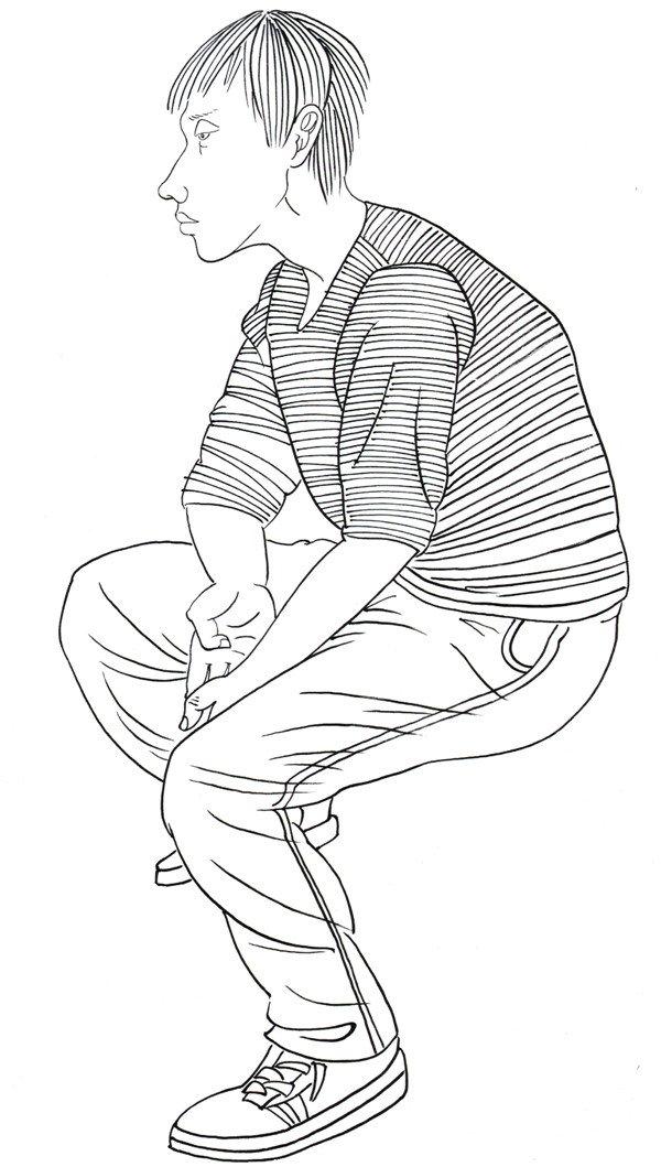 侧脸男生手绘教程