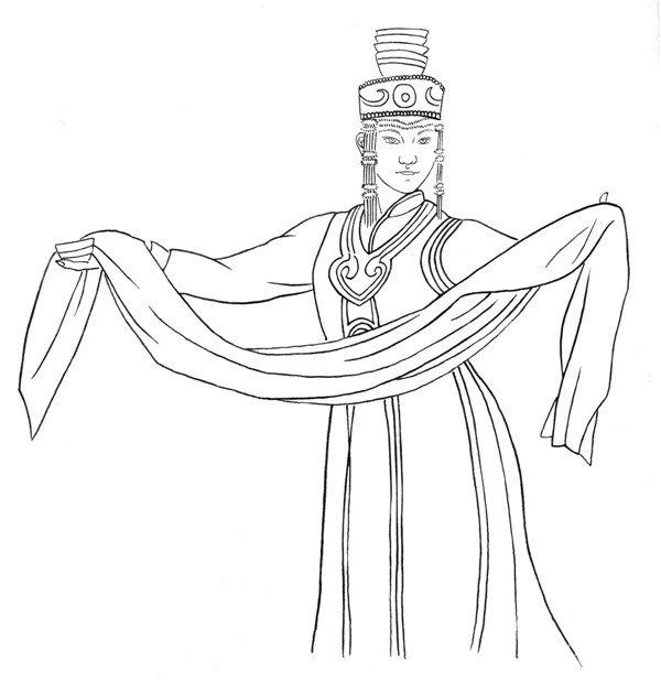 白描少数民族人物欣赏与画法
