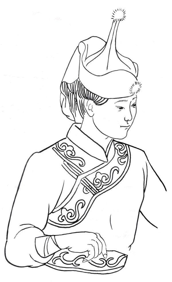 蒙古族人物简笔画_蒙古族民族服饰简笔画分享_蒙古族民族服饰简笔画图片分享
