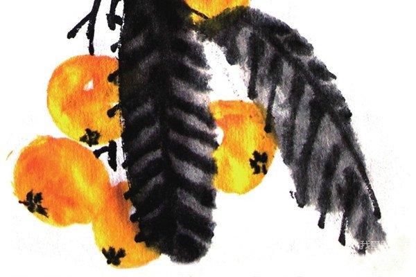 信息中心 国画入门教程——枇杷的画法   谁有儿童国画入门教程画文