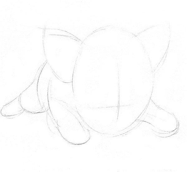 素描动物小猪的绘画步骤