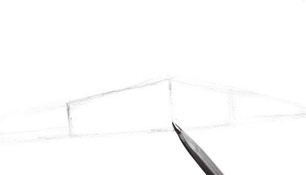 速写教程 速写场景 > 速写入门风景速写透视训练      1,用简单的线条