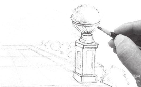 速写入门风景速写透视训练(4)_速写教程_学画画_我爱