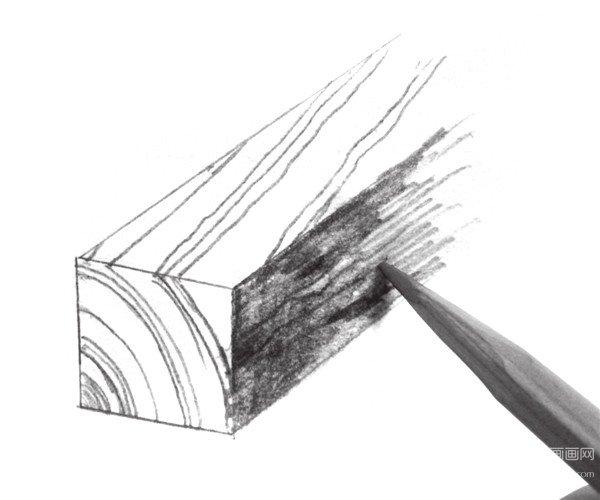 木材质感的绘制步骤三-速写入门知识 不同质感的表现