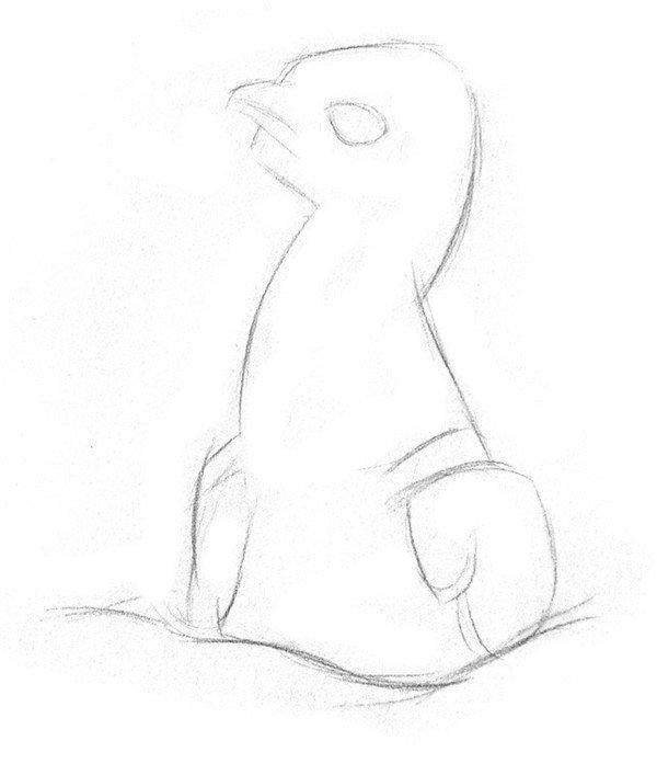 素描动物小鹰的技法步骤教程