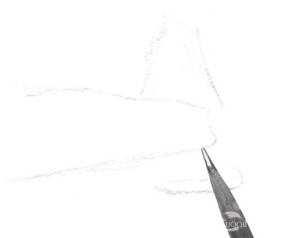 速写石头质感的绘画步骤