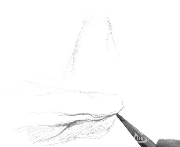 速写石头质感的绘画步骤 2