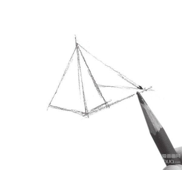 速写三棱锥阴影的表现技法步骤一