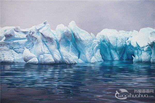 美国女画家Zaria Forman冰山超写实彩色插画作品欣赏