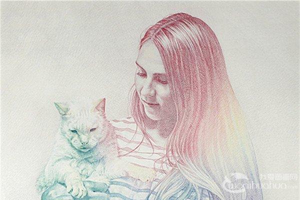 西班牙插画师Oriol Angrill Jorda彩铅人物插画作品欣赏