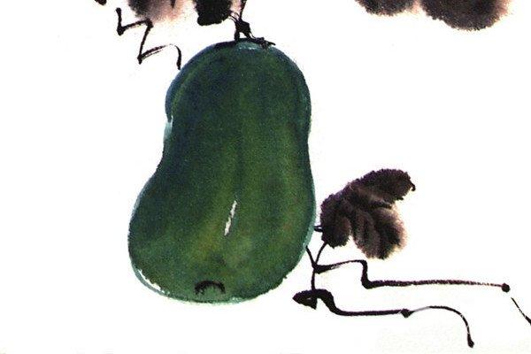 国画冬瓜的绘画教程