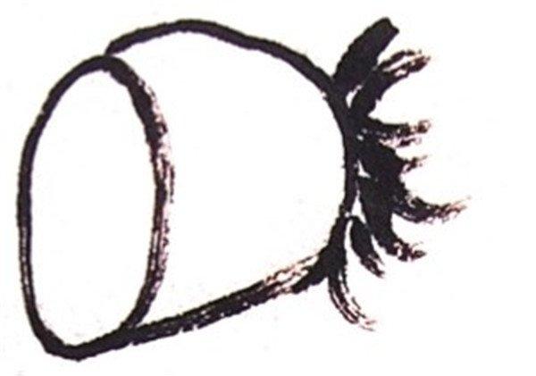 国画莲藕的绘画步骤二