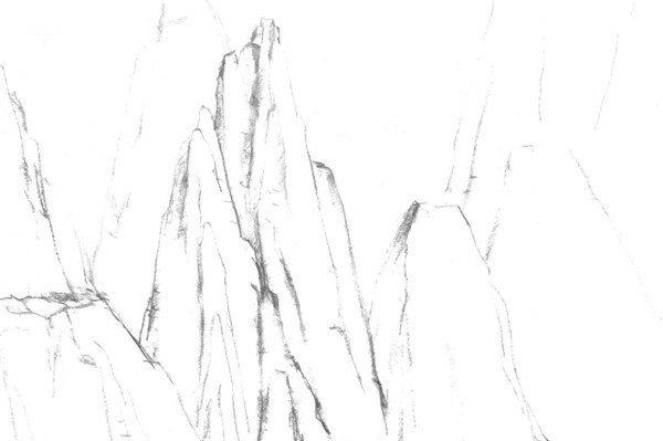 速写地形的绘画技法