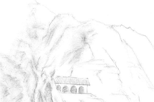 速写高原的绘画步骤