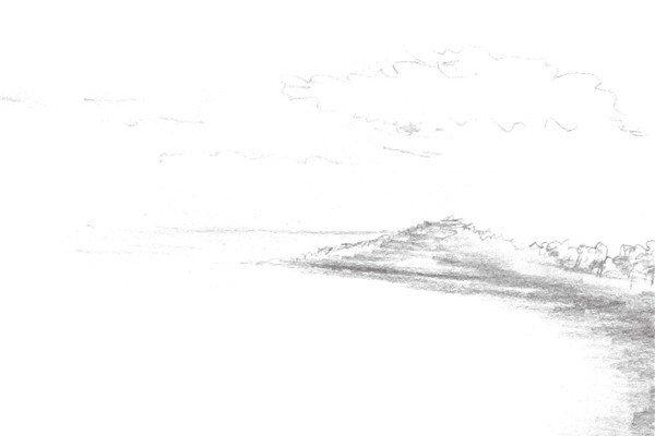 速写大海的绘画步骤