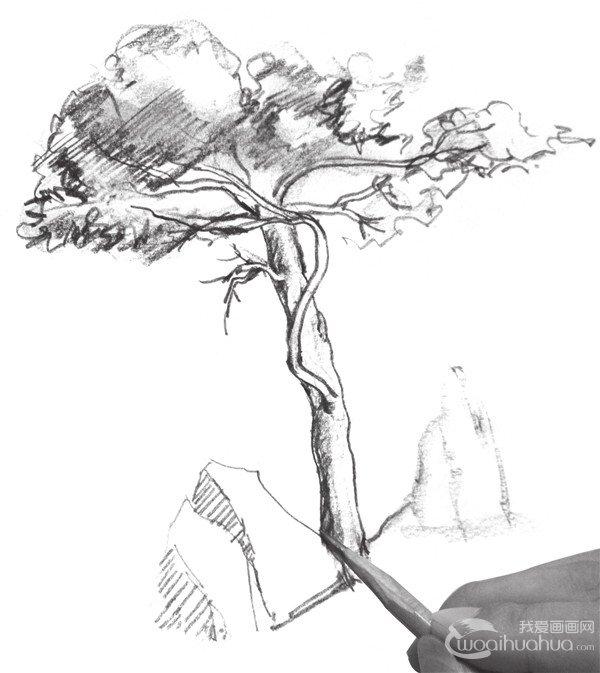 石头速写手绘图片