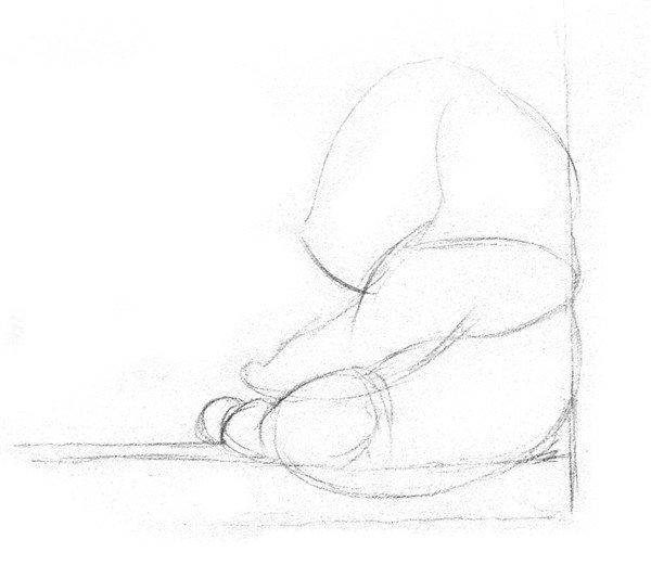 素描大熊猫的绘画步骤教程
