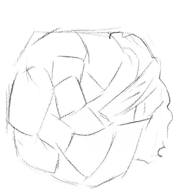 素描菜花的绘画步骤二