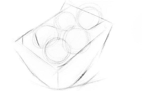 素描苹果篮的绘画步骤教程_素描教程_学画画_我爱画画