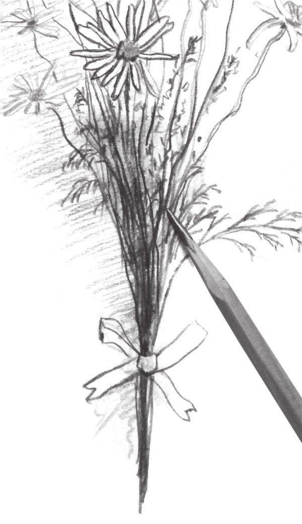 写一束花的绘画步骤 5图片