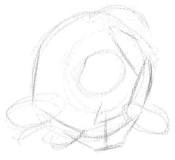 常用物体手绘结构图素描