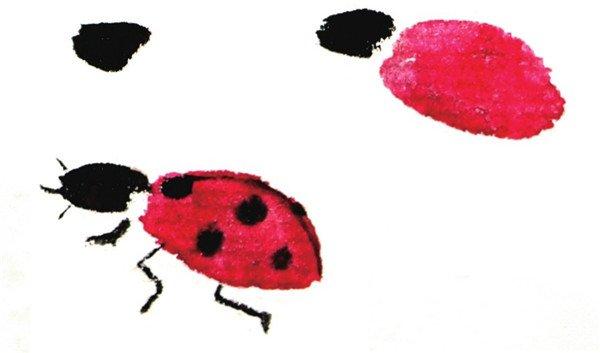 国画七星瓢虫的绘画步骤教程图片