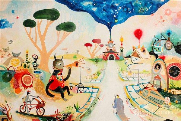美国艺术家Souther Salazar绘画作品欣赏