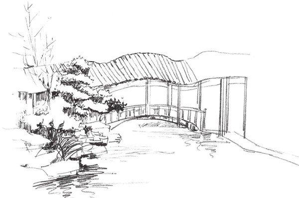 园林建筑的绘画步骤三