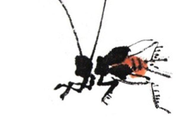 国画蟋蟀的技法
