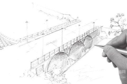 速写大桥的绘画技法