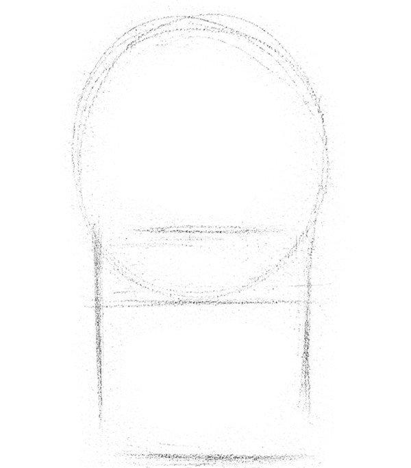 素描芦荟的绘画步骤(2)