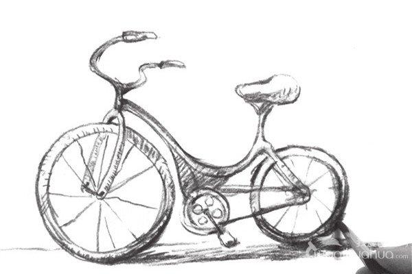 速写自行车的绘画技法