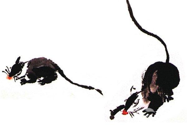 水墨老鼠的绘画技法