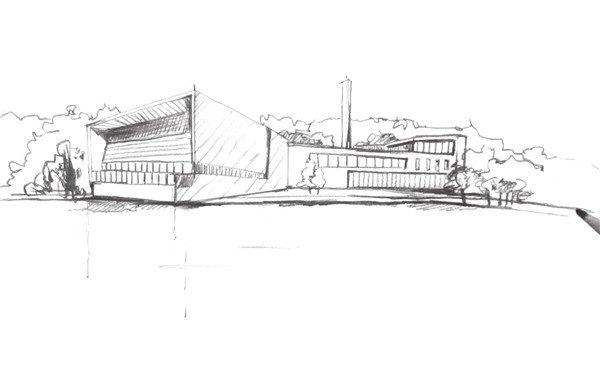 速写工厂的画法步骤六