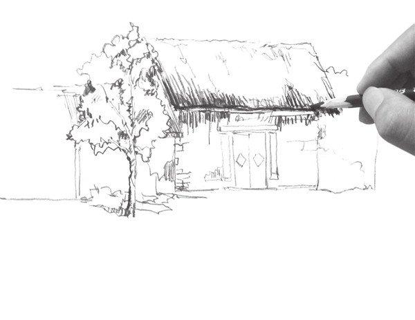 速写小屋的画法(3)图片