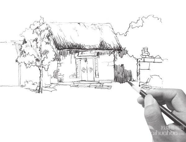 速寫小屋的畫法(3)