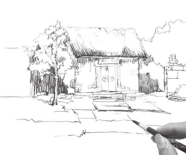 速写小屋的画法(5)