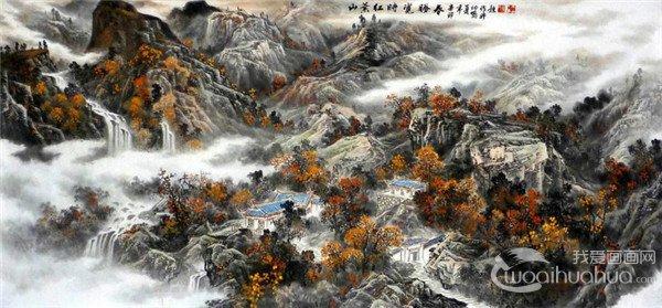 龙幼民国画山水作品欣赏