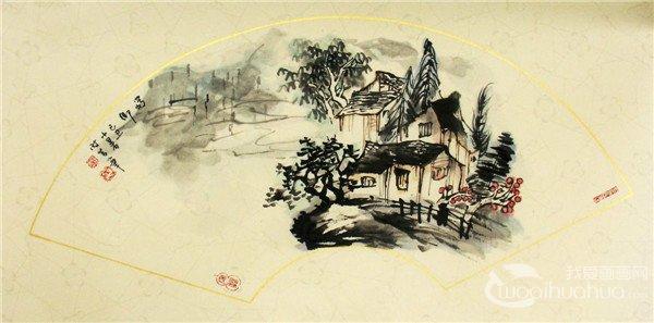 朱时昔国画山水作品欣赏
