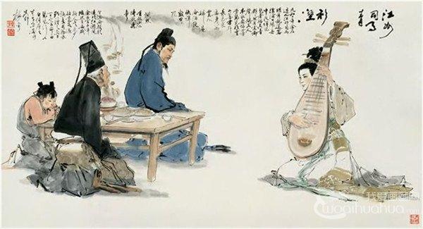 颜梅华国画人物作品欣赏