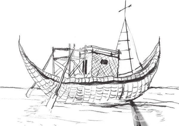 速写帆船的画法步骤五