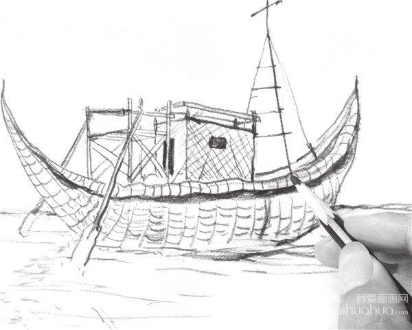 速写帆船的画法步骤六