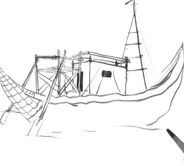简笔画 手绘 素描 线稿 600_541