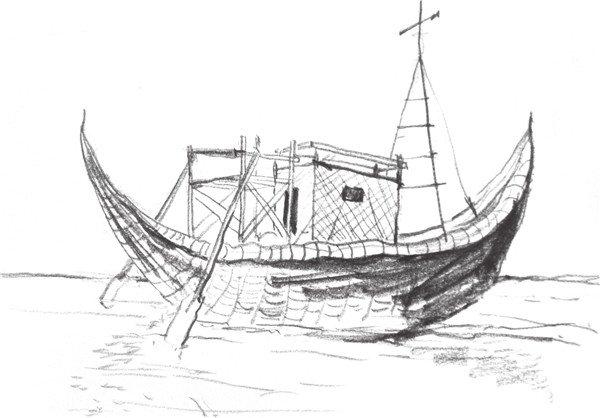 速写帆船的画法步骤八