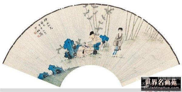 陈少梅扇面国画作品欣赏