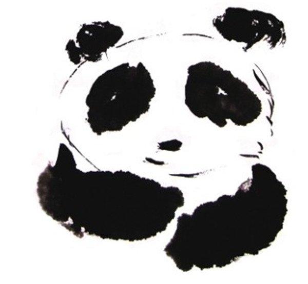 国画大熊猫的绘画技法(4)
