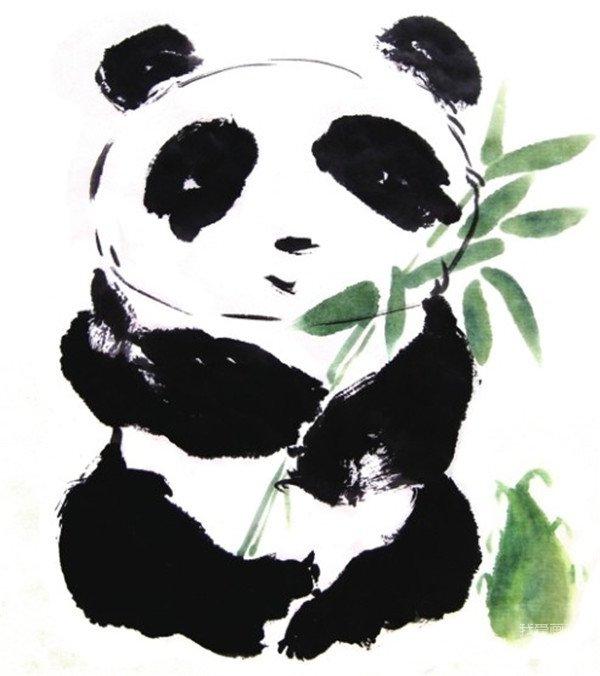 熊猫是世界上最可爱的动物之一.有兴趣就来画一画吧!