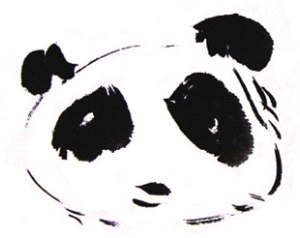 国画大熊猫的绘画技法(3)