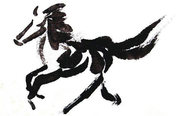 国画马的绘画步骤 3图片